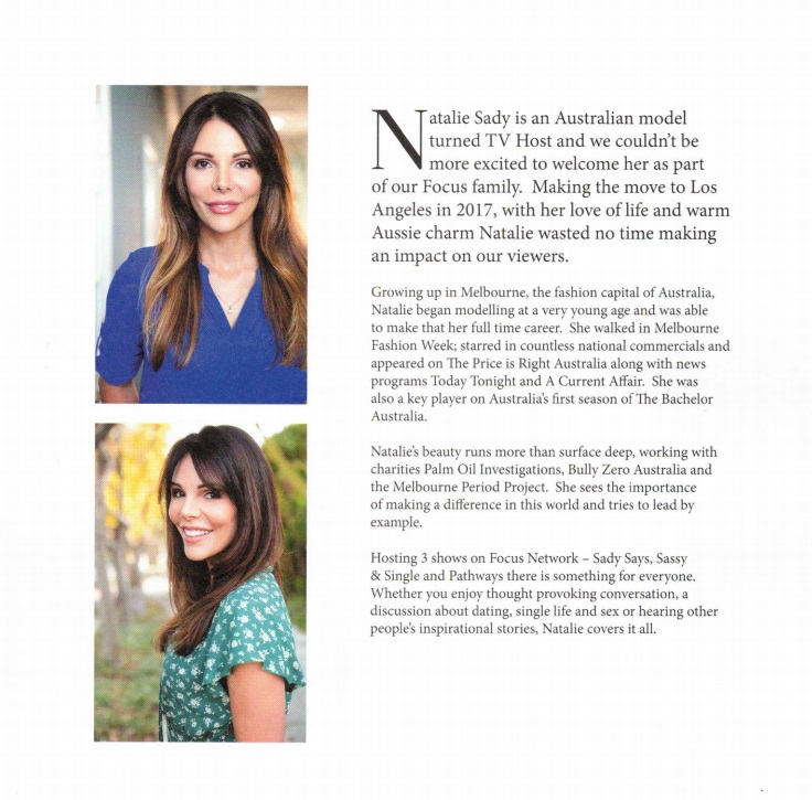 Focus Magazine Natalie Sady